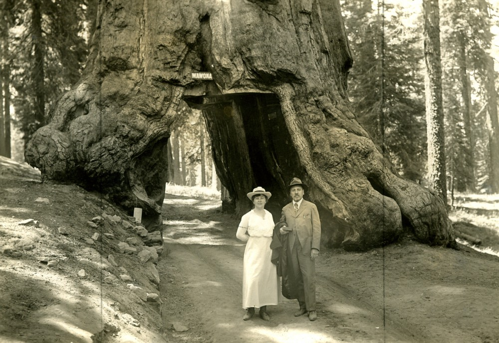 Victor en Julia Horta in het Yosemite National Park. © Archives du musée Horta, Saint-Gilles