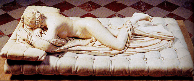 De Hermaphroditus in het Louvre. Geraadpleegd 30 april 2018 op https://thatlou.wordpress.com/tag/gian-lorenzo-bernini/