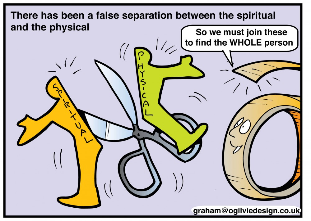 Separation between the spiritual and the physical
